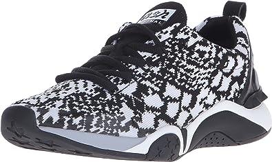 ASH Women's Hit Black/White/Python Knit/Nappa Sneaker 40 (US Women's