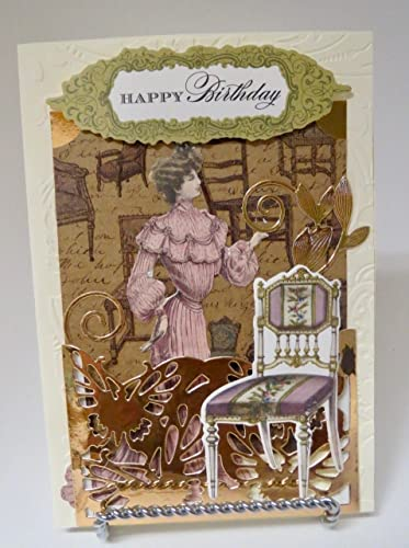 Amazon Happy Birthday Vintage Victorian Greeting Card Handmade