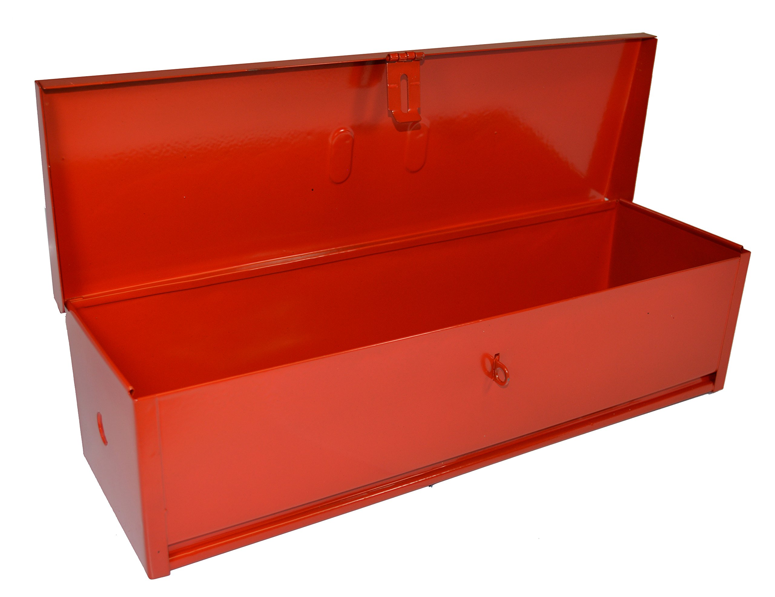 RanchEx 102419 Tool Box - Portable For Trucks/Tractors, Mounting Hardware Included - 16'' - Red