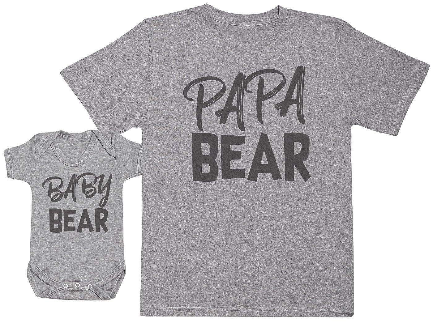 Baby Bear & Papa Bear - Ensemble Père Bébé Cadeau - Hommes T-Shirt & Body bébé G-17-D-BB