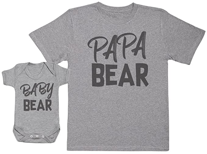 f5be4208a70 Baby Bear   Papa Bear - Matching Father Baby Gift Set - Mens T Shirt ...