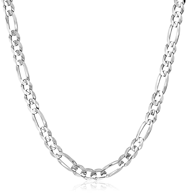 f4c76deec400a Men's 10k Gold Solid Figaro Chain, 22