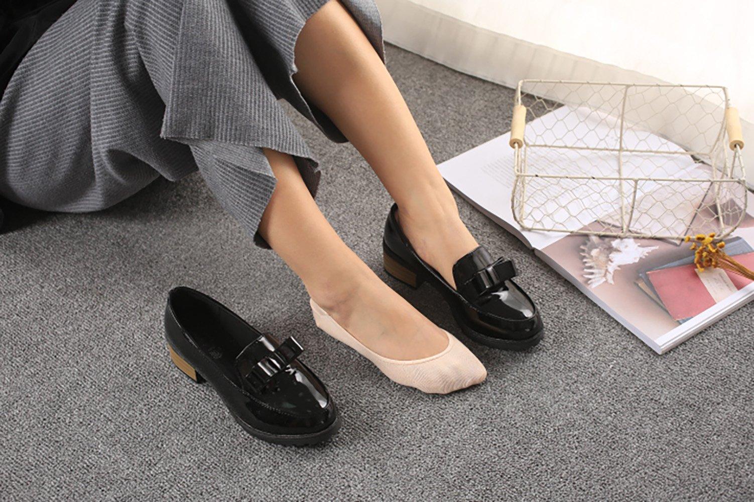 Women No Show Socks Cotton Liner Socks Non-Slip No Show Socks Low Cut Boat Socks 5-Pairs by Ayiran (Image #7)