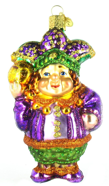 Amazon.com: Old World Christmas Mardi Gras Jester Glass Ornament ...