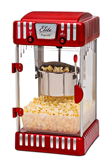 Elite Deluxe EPM 250 Maxi Matic 2.5 Ounce Classic Tabletop Kettle Popcorn  Popper Machine