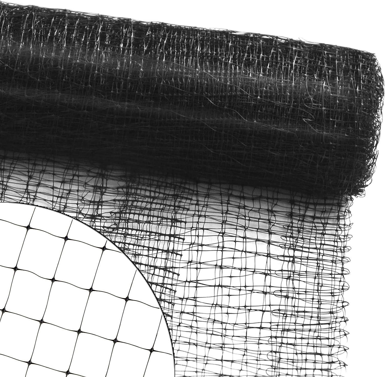 rei/ßfestes Vogelnetz f/ür Garten Vogelschutznetz zum Abdecken von B/äumen Beeten Str/äuchern Maschenweite: 13 mm schwarz Netz zum Schutz vor V/ögeln 2x10 m viele Gr/ö/ßen Balkon oder Teich