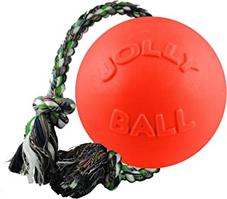 product image for Jolly Pets Romp-n-Roll Rope Ball Dog Toy