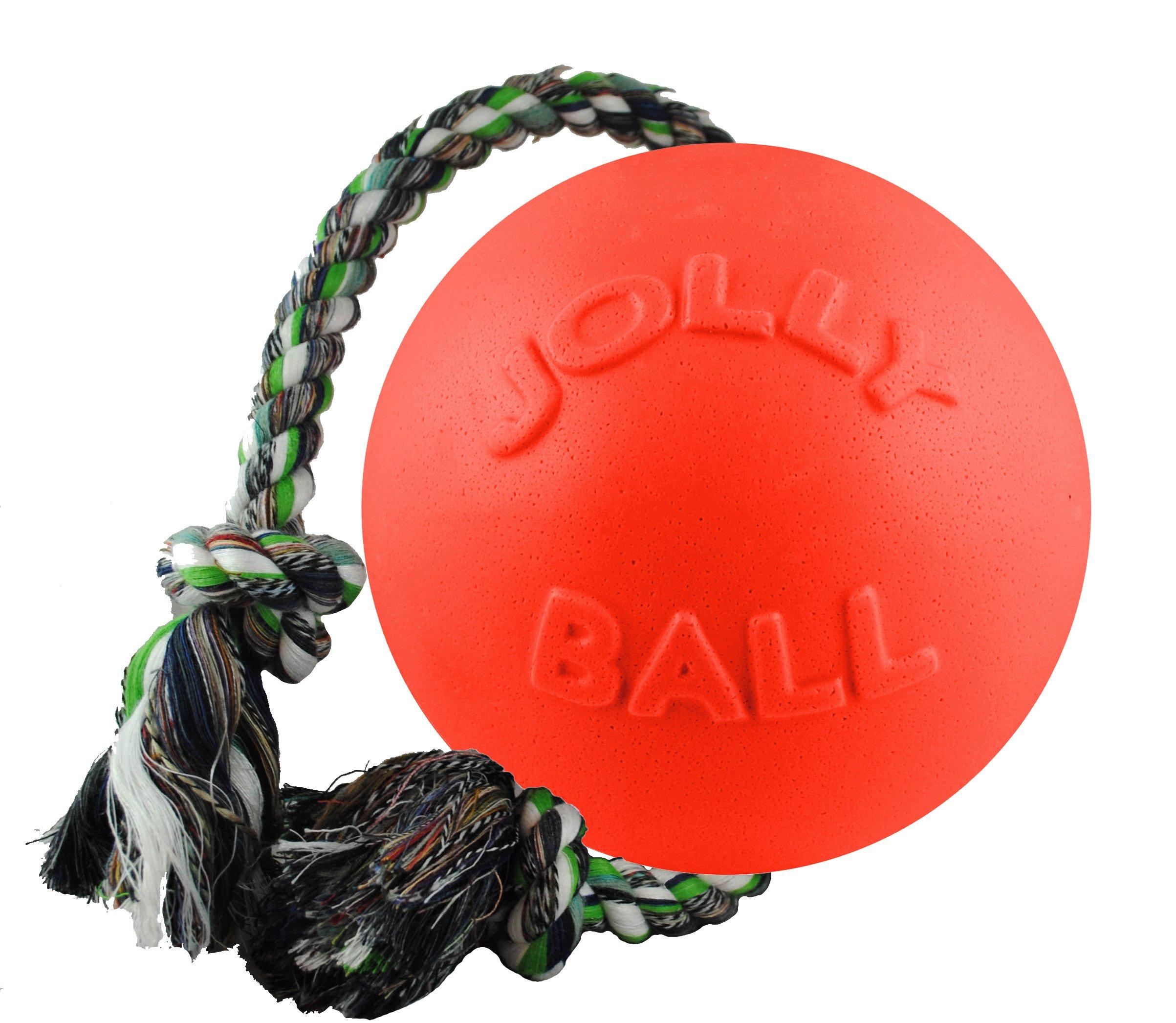 Jolly Pets 6'' Romp-n-Roll Dog Toy, Medium, Orange