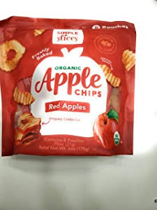 GourmetNut Simple Slices Organic Apple Chips (Red Apples)