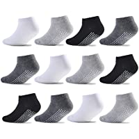 Epeius Baby Socks Low Cut Non-Slip Socks for Newborn Infants Toddlers Girls Boys Ankle Socks with Grips 12 Pairs