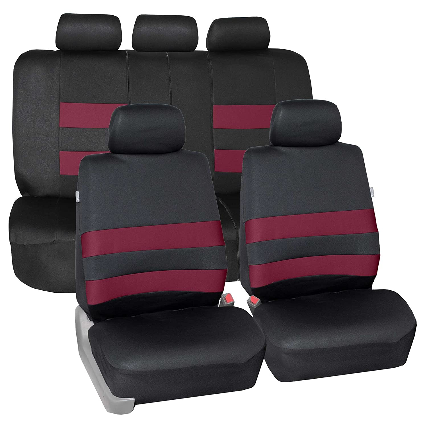 FH Group FB087BLUE115 Blue Premium Neoprene Seat Cover Water Resistent//Airbag//Split Bench Compatible