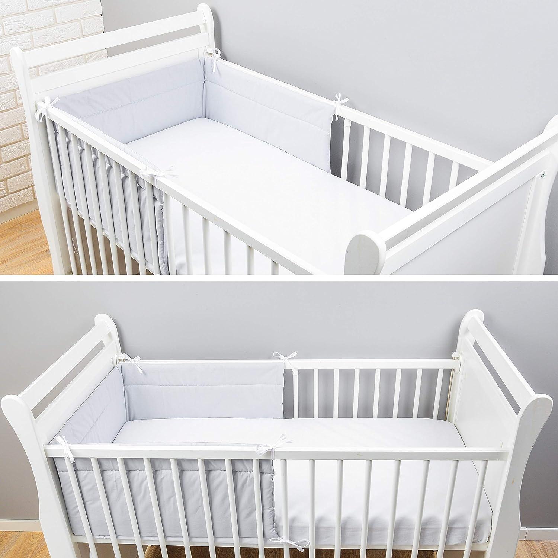 180x30 cm Bettnestchen Baby Kantenschutz Bettausstattung Einfarbig: Grau 360x30cm Amilian/® Bettumrandung Nest Kopfschutz Nestchen 420x30cm 180x30