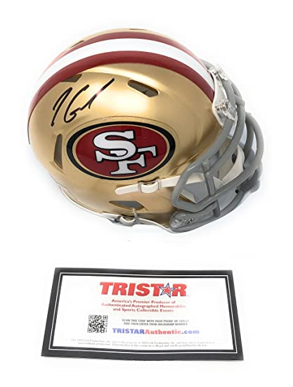 7459ceb4b Jimmy Garoppolo San Fransisco 49ers Signed Autograph Speed Mini Helmet  Tristar Authentic Certified