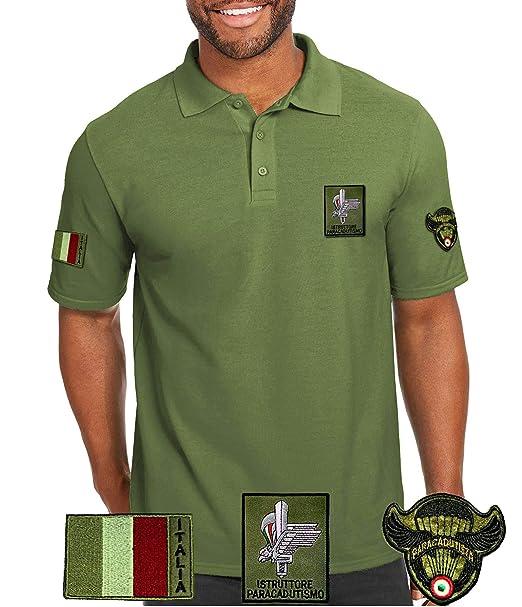 Polo Con Militare Verde Colletto Maglietta Istruttore Para'Maglia kuZOTPXi