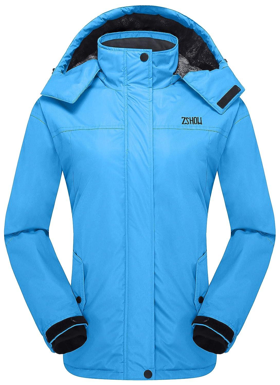 blueee Large ZSHOW Women's Waterproof Ski Jacket Windproof Insulated Fleece Jacket