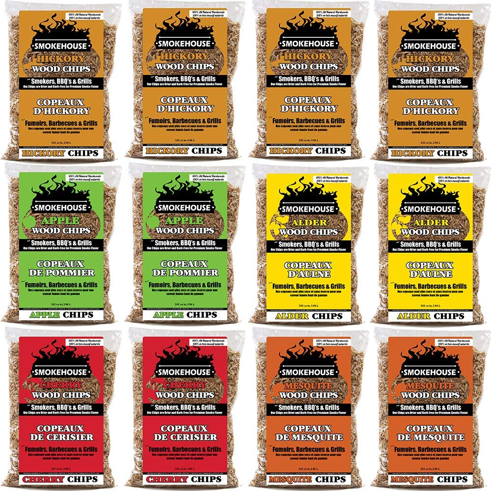 Smokehouse Products Assorted Flavor Chips, 12-Pack (Renewed)