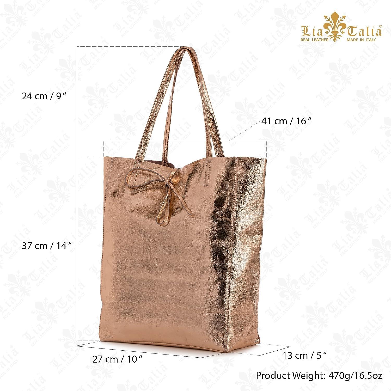 e1b4a7802 LIATALIA Genuine Italian Soft Leather Leightweight Large Hobo Tote Shopper  Shoulder Handbag - ASTRID [Black]: Amazon.co.uk: Shoes & Bags