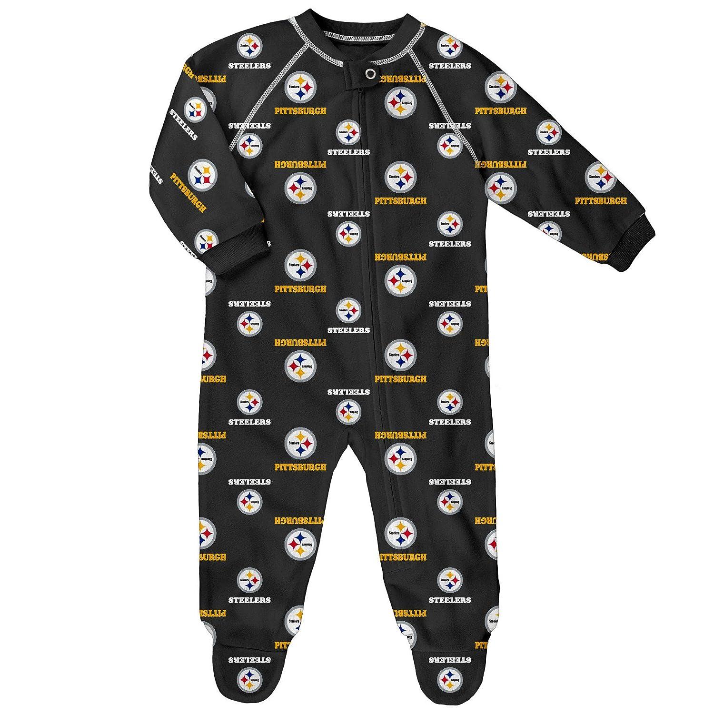 Pittsburgh Steelers Newborn All Over Print Raglan Sleeper