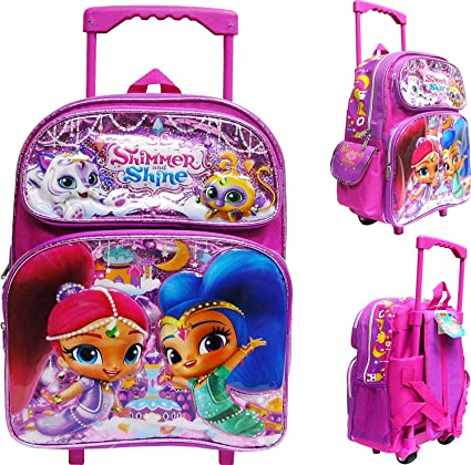 KIDS GIRLS SHIMMER AND SHINE BACKPACK SOFT TOY