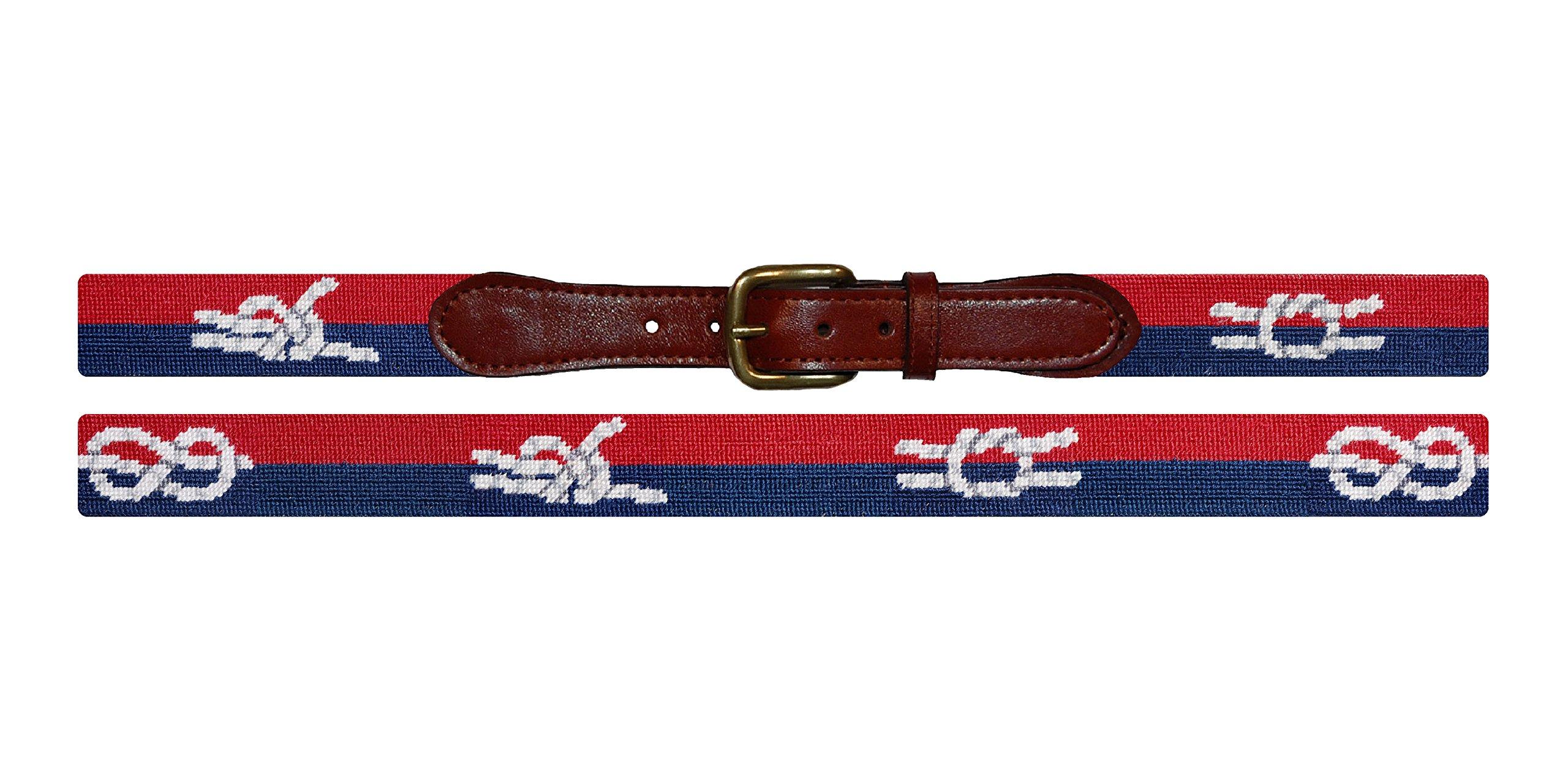 Smathers & Branson Nautical Knots Traditional Needlepoint Belt, Size 40 (B-247-40)