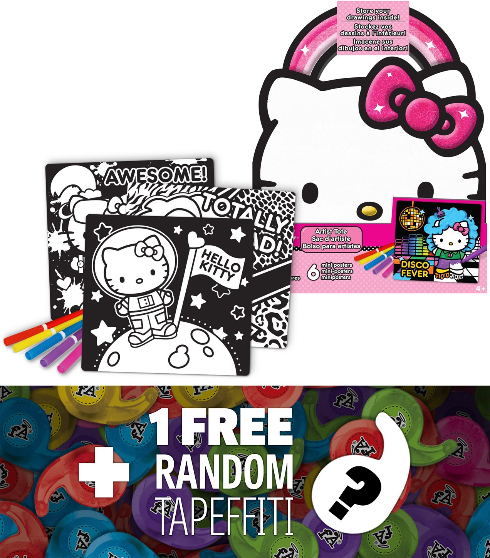 Hello Kitty Mini-Poster Artist Tote Set + 1 FREE Mini-Tapeffiti Bundle
