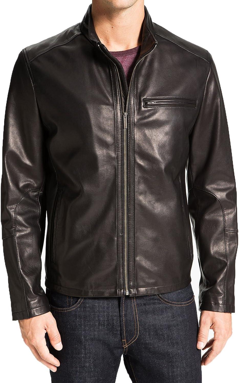 Mens Genuine Cow Leather Jacket Slim Fit Biker Motorcycle Jacket LTC226