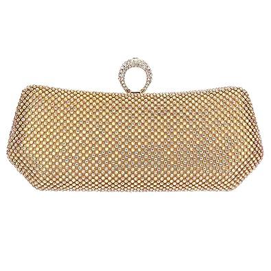 f47f7d7dd2c Fawziya Polygon Knuckle Ring Purse And Clutch Bags For Women Evening Bag-AB  Gold