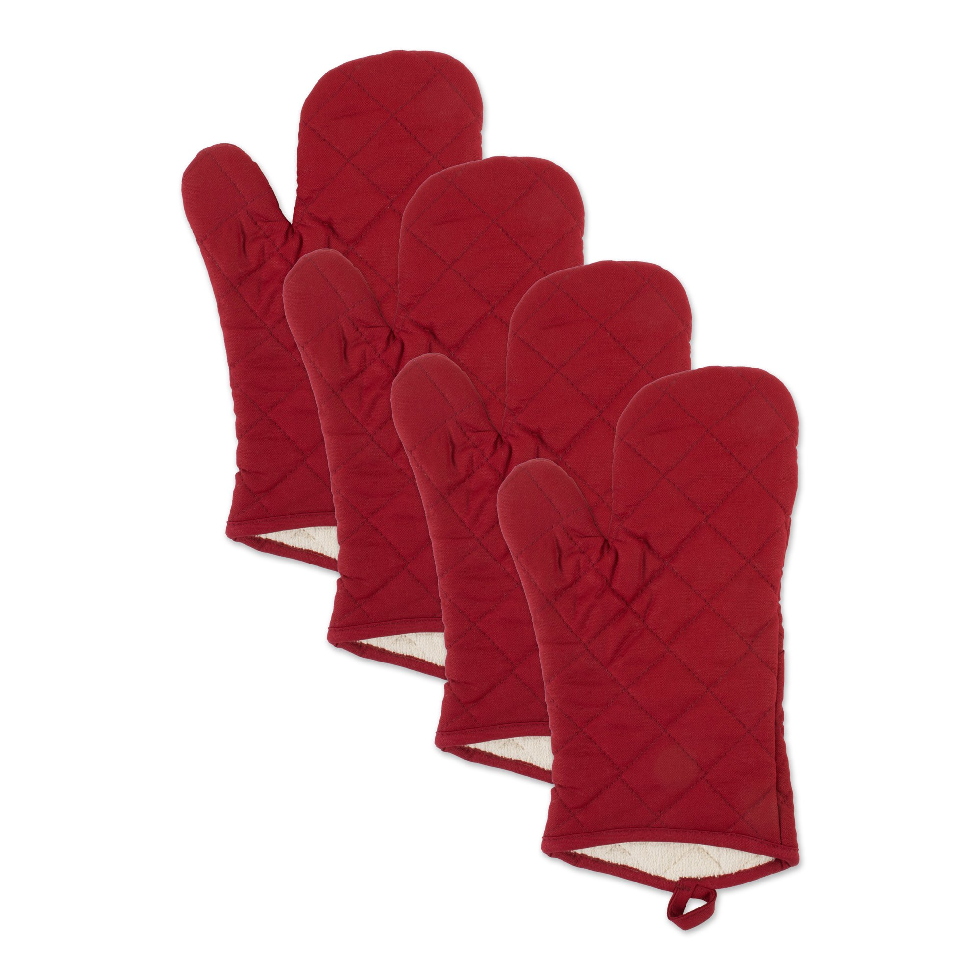 J&M Home Fashions 70309A Dishcloth, Red Oven Mitt