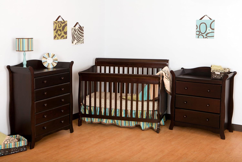 Amazon.com : Stork Craft Modena 4 In 1 Fixed Side Convertible Crib,  Espresso : Storkcraft Crib : Baby