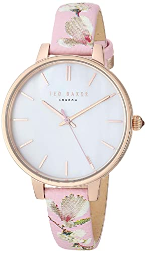 Baker Analog Quartz Steel Women's Stainless 'kate' Watch ' Ted StrapPink12modelTe5000501917 Leather With j35c4RSAqL