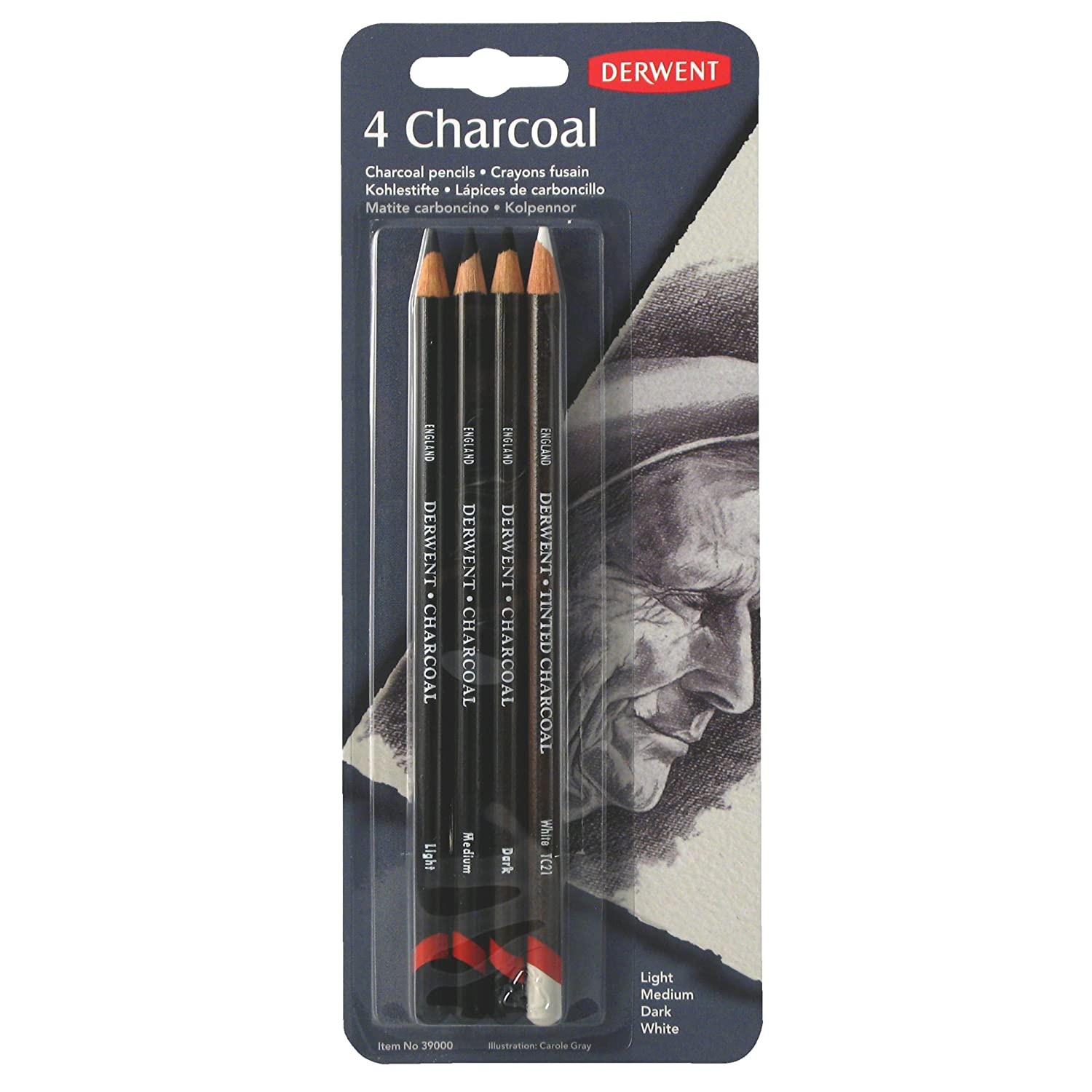 Derwent Charcoal Blister con 4 Matite a Carboncino