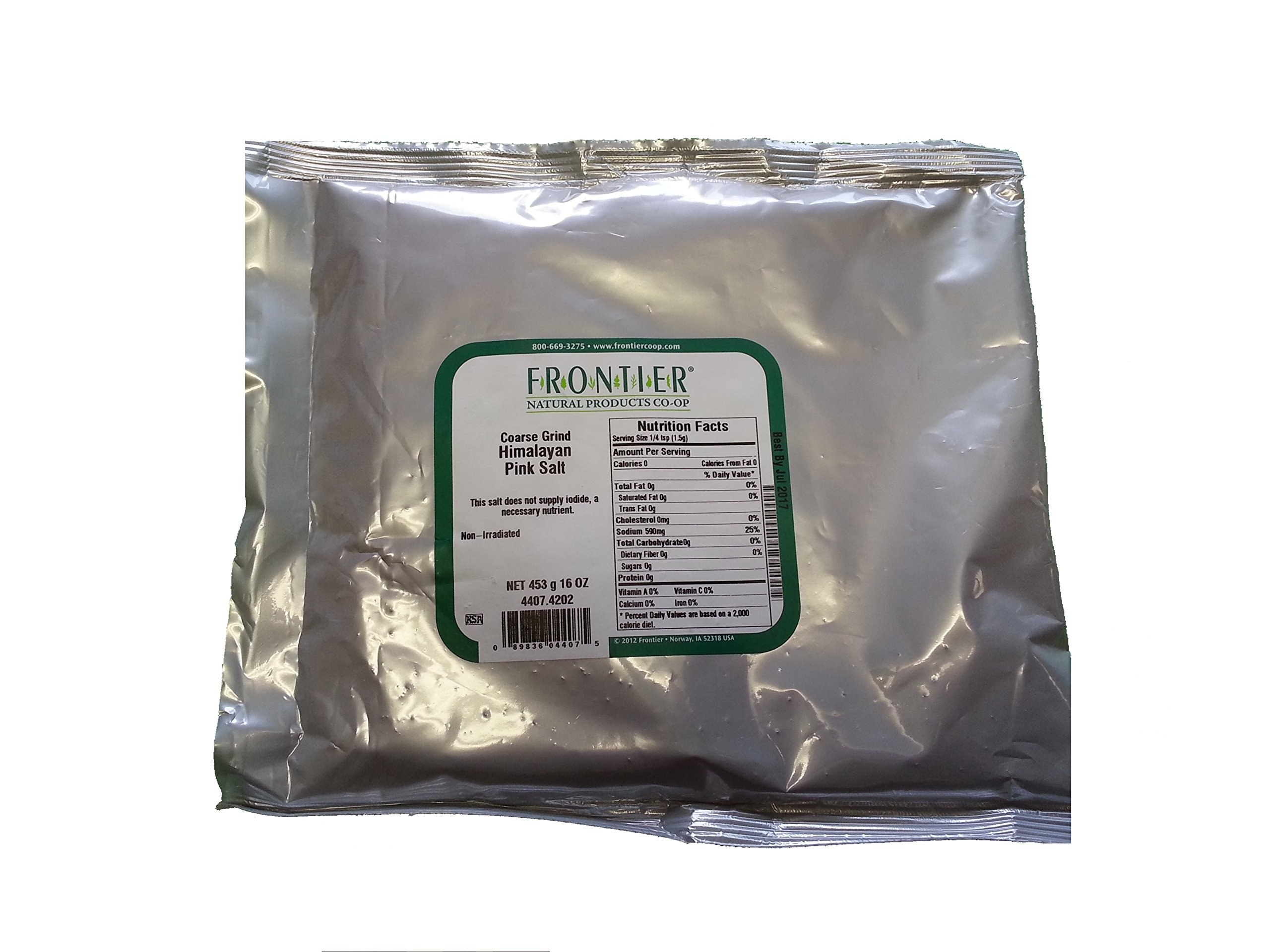 Frontier Natural Products - Salt Himalayan Pink Coarse Grind - 1 Lb