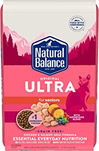 Natural Balance Original Ultra Dry Cat Food for Senior Cats, Grain Free Chicken & Salmon Meal Formula