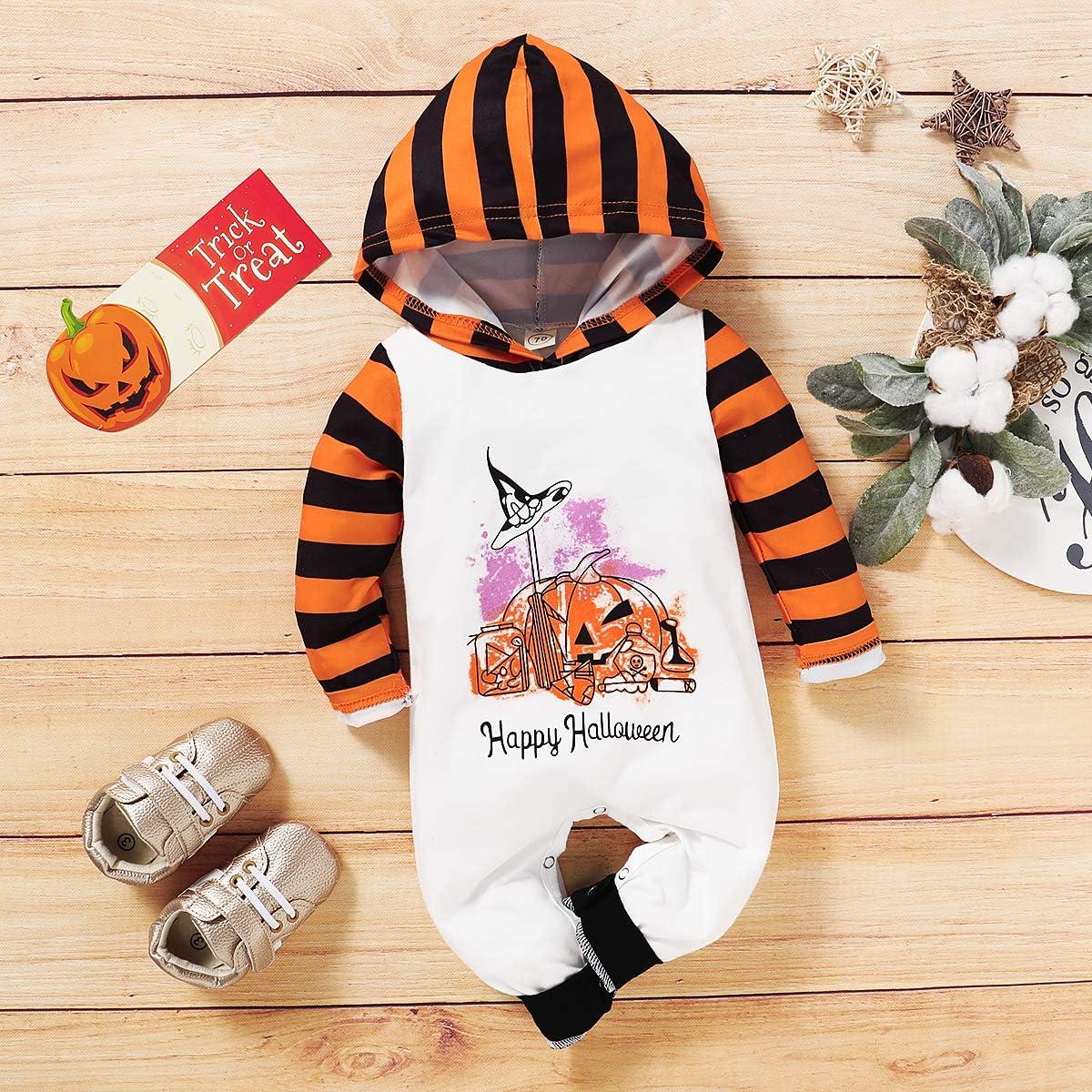 Disfraz de Halloween para Beb/é Unisex Ni/ña con Capucha Manga Larga con Estampado de Fantasma y Letras Divertidas 0-18 Meses