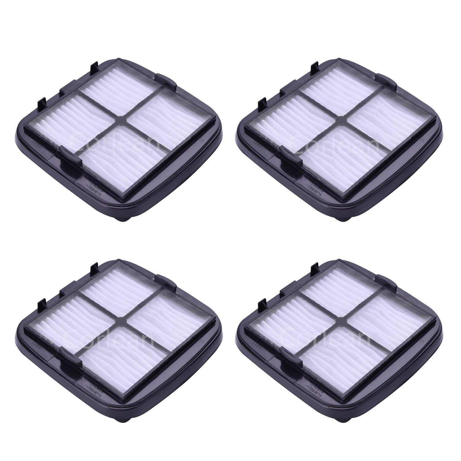 Corlean 4 Pack Compatible Filters Replacement for Bissell Pet & Hand Vac Multi-Level Filter,97D5, Replaces Part # 203-7416