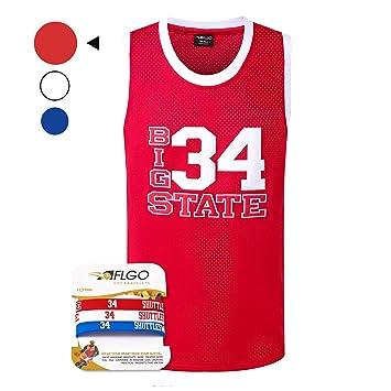 AFLGO Jesús Shuttlesworth 34 Big State Playera de Baloncesto El ...