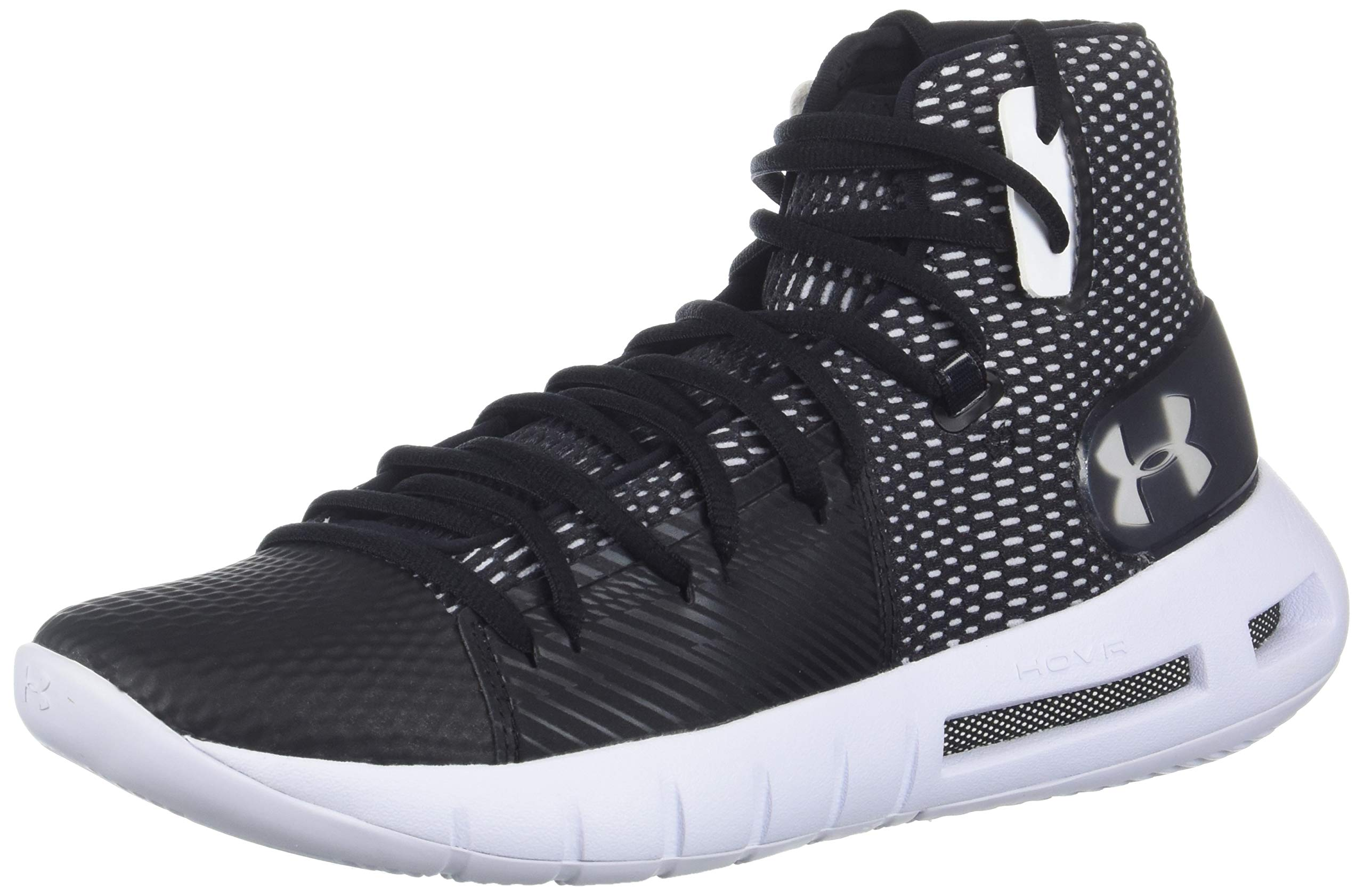 Under Armour Women's Drive 5 Basketball Shoe, Black (001)/White, 8 by Under Armour