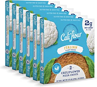 product image for Cali'flour Foods Plant-Based Pizza Crust (Italian, 6 Boxes, 12 Crusts) - Fresh Cauliflower Base | Vegan, Low Carb, High Protein, Gluten and Grain Free | Paleo Friendly