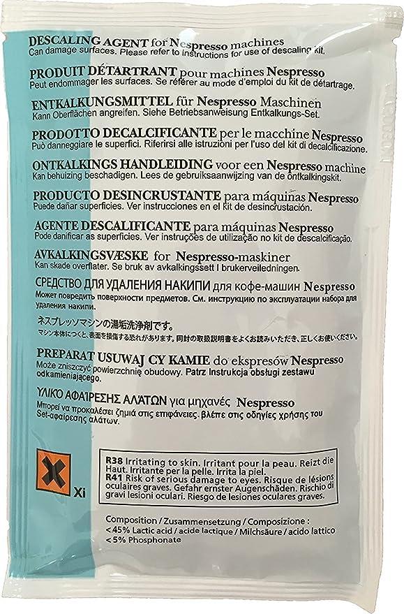 Nespresso cal solución para todos los modelos, 1 paquete: Amazon ...