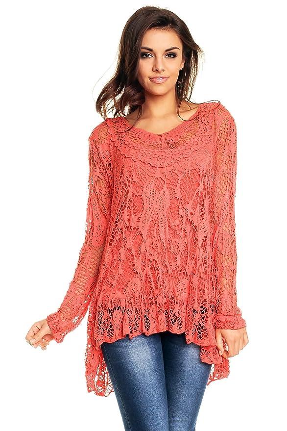 Fabio Fashion - Camisas - Casual - para mujer Koralle Small : Amazon.es: Ropa y accesorios