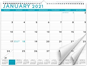 Sweetzer & Orange 2021 Calendar. 18 Month Office Wall Calendar - Blue Business Design Monthly Planner, Daily Wall Calendars for Office Organization. 11.5 x 15 Inch Hanging Wall Calendar