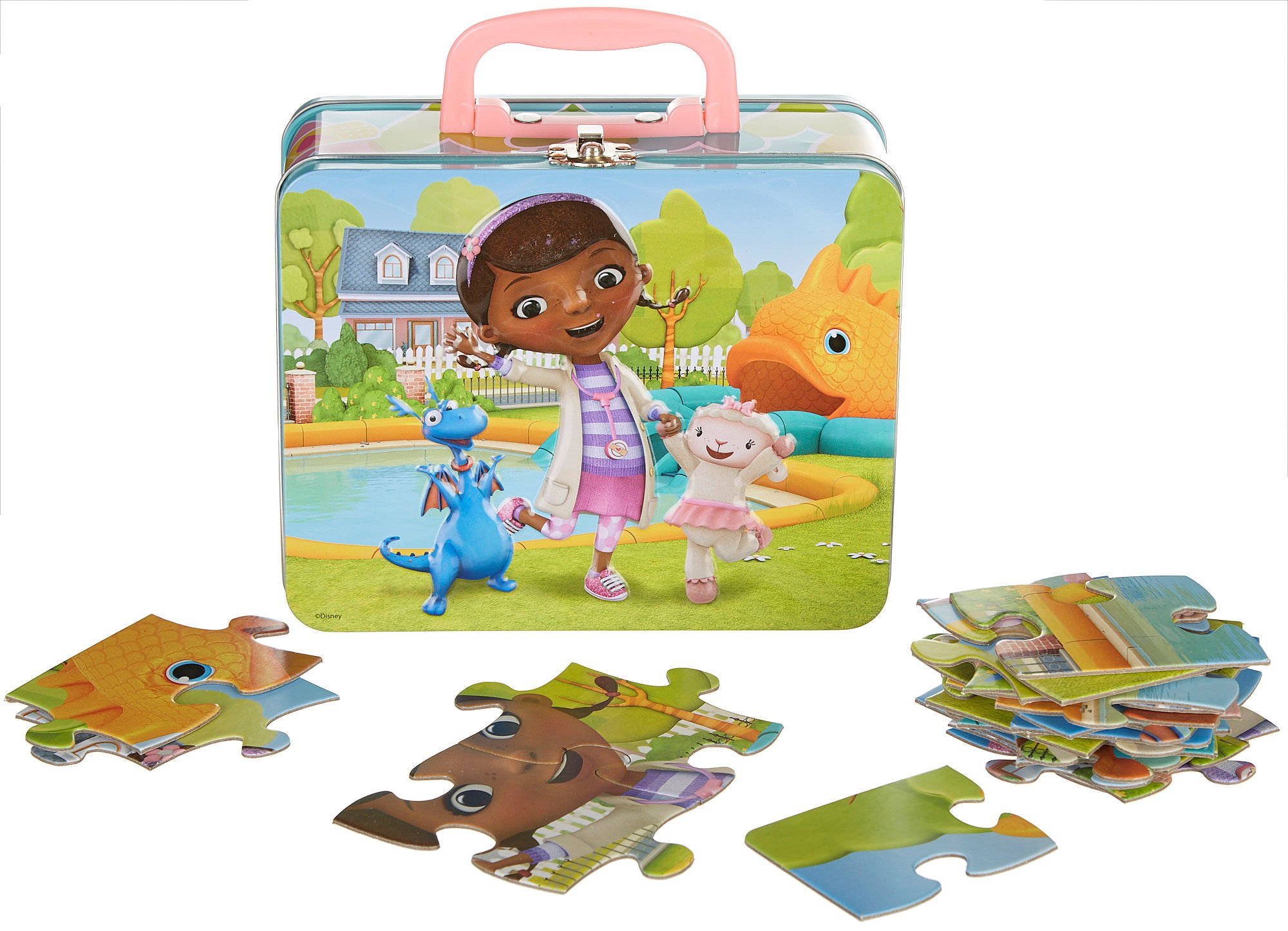24pc Doc McStuffins Puzzle in Tin Lunch Box by Disney (Image #1)