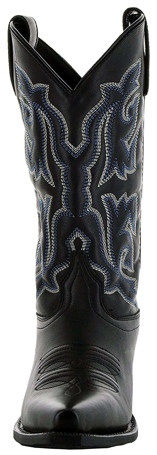 Soto Boots Women's Snip Toe Leather Cowgirl Boots M3002 B0792DHZ21 10 B(M) US|Black