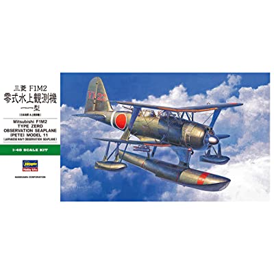 Hasegawa Mitsubishi F1M2 Type Zero Observation Seaplane (Pete) Model 11, 1/48 Scale Japanese Navy Seaplane Model Kit/Item # 19196: Toys & Games