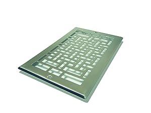 Decor Grates AJL610R-NKL Oriental Return, 6-Inch by 10-Inch, Nickel