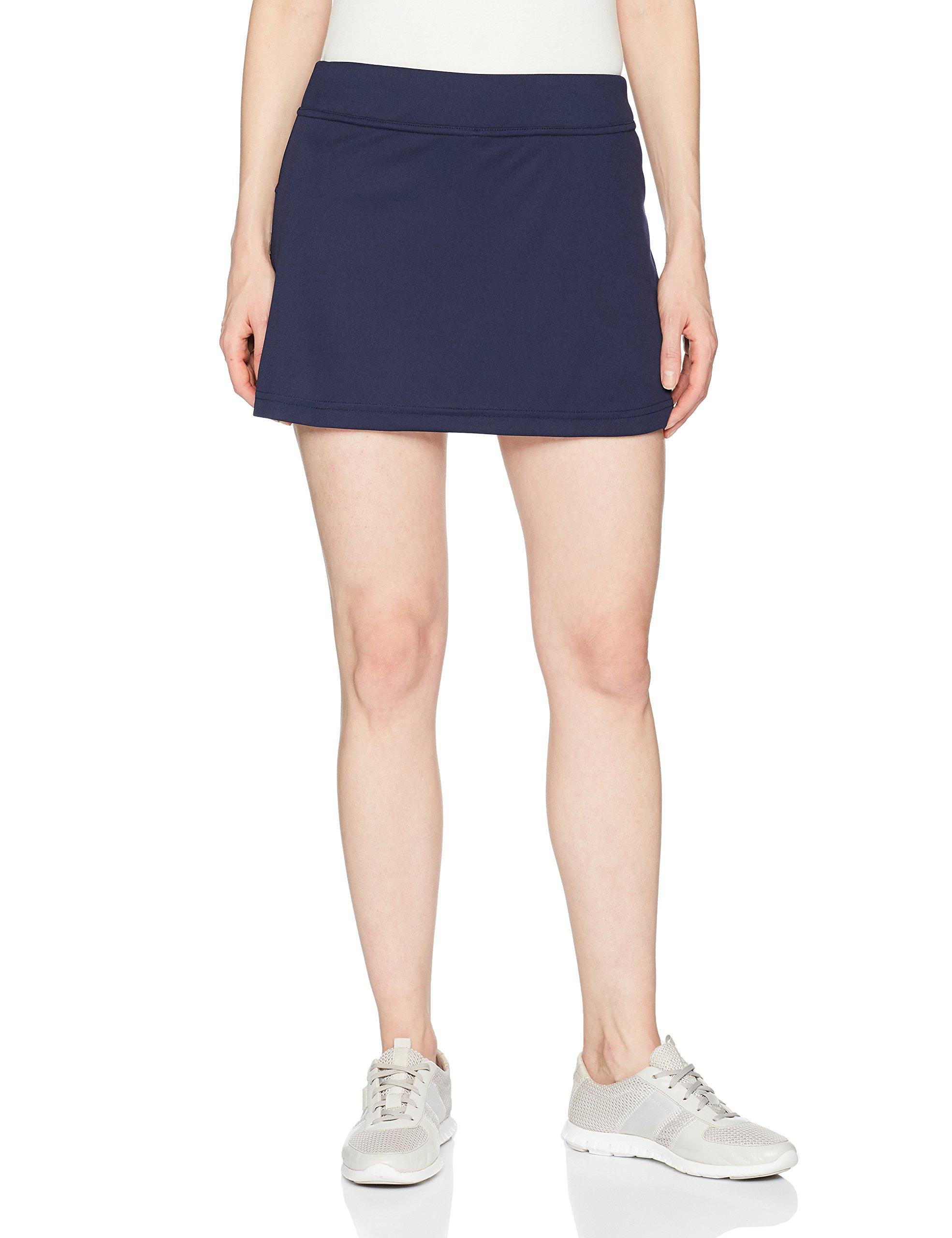 GRAND SLAM Tennis Women's Core 14'' Skorts with Back Pleats, Solid Peacoat, XL