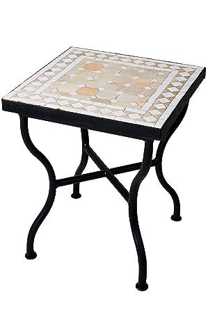 Original Marokkanischer Mosaiktisch Gartentisch 40x40cm Gross Eckig Eckiger Mosaik Esstisch Mediterran Als Tisch Fur Balkon Oder Garten