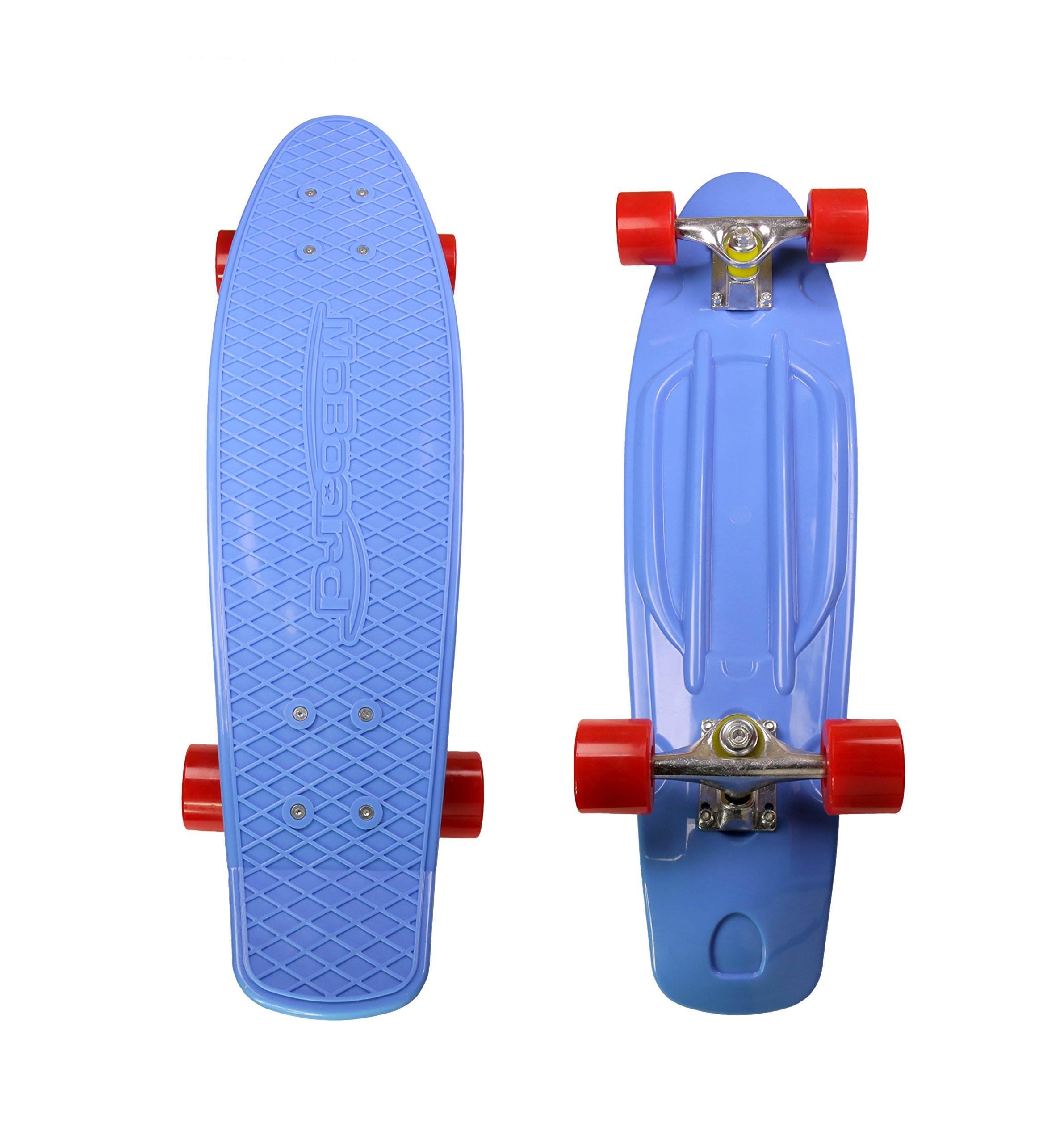 MoBoard 27'' Inch Graphic Complete Skateboard (Blue - Red)