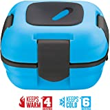 Lunch Box ~ Pinnacle Insulated Leak Proof Lunch Box for Adults and Kids - Thermal Lunch Container With NEW Heat Release Valve ~ Blue