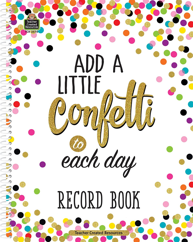 Confetti Record Book Teacher Created Resources OS 3570